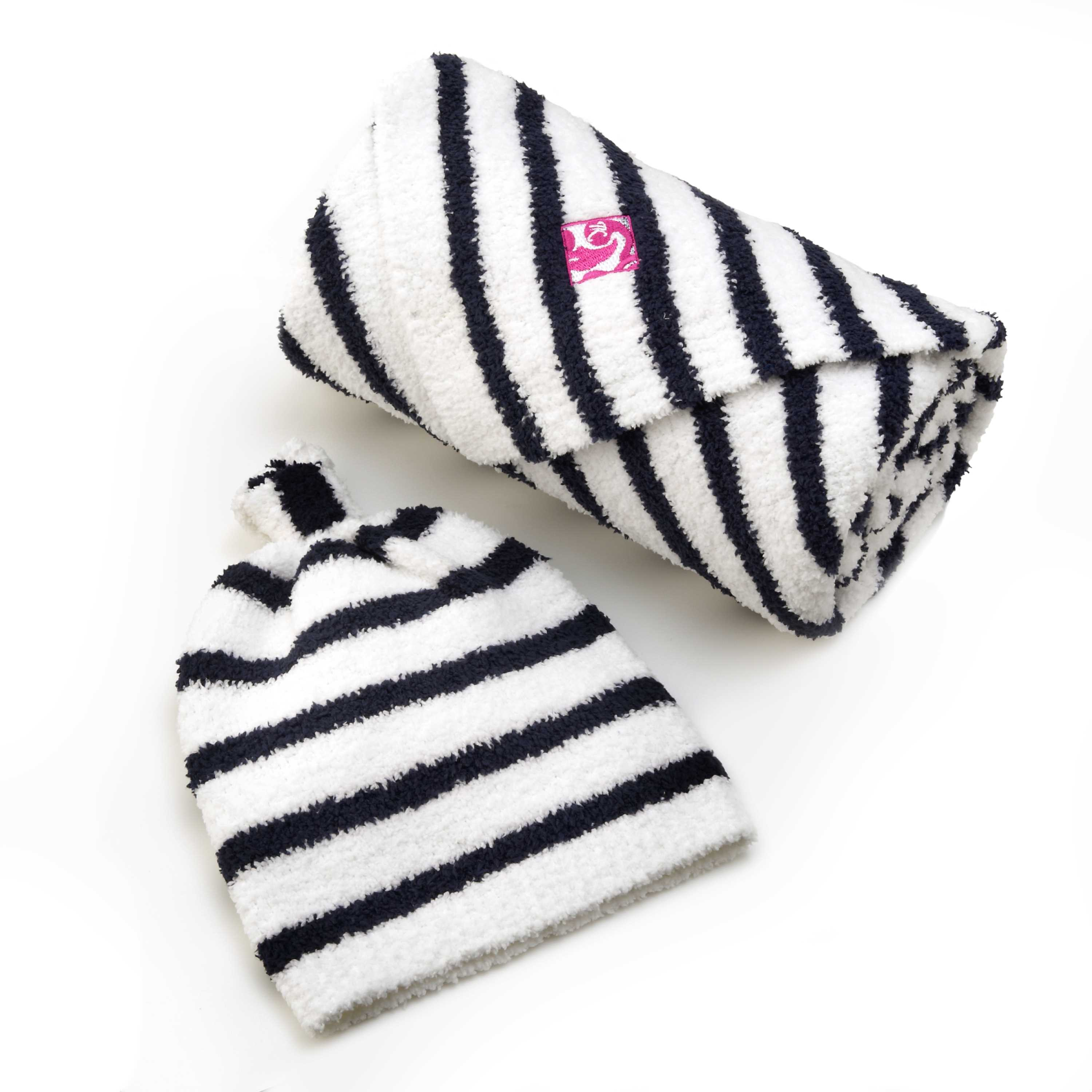 BABY BLANKET MINI-STRIPE&CAP